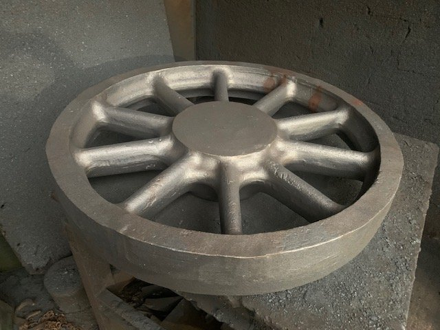 One of four leading and trai;ing wheel castings.